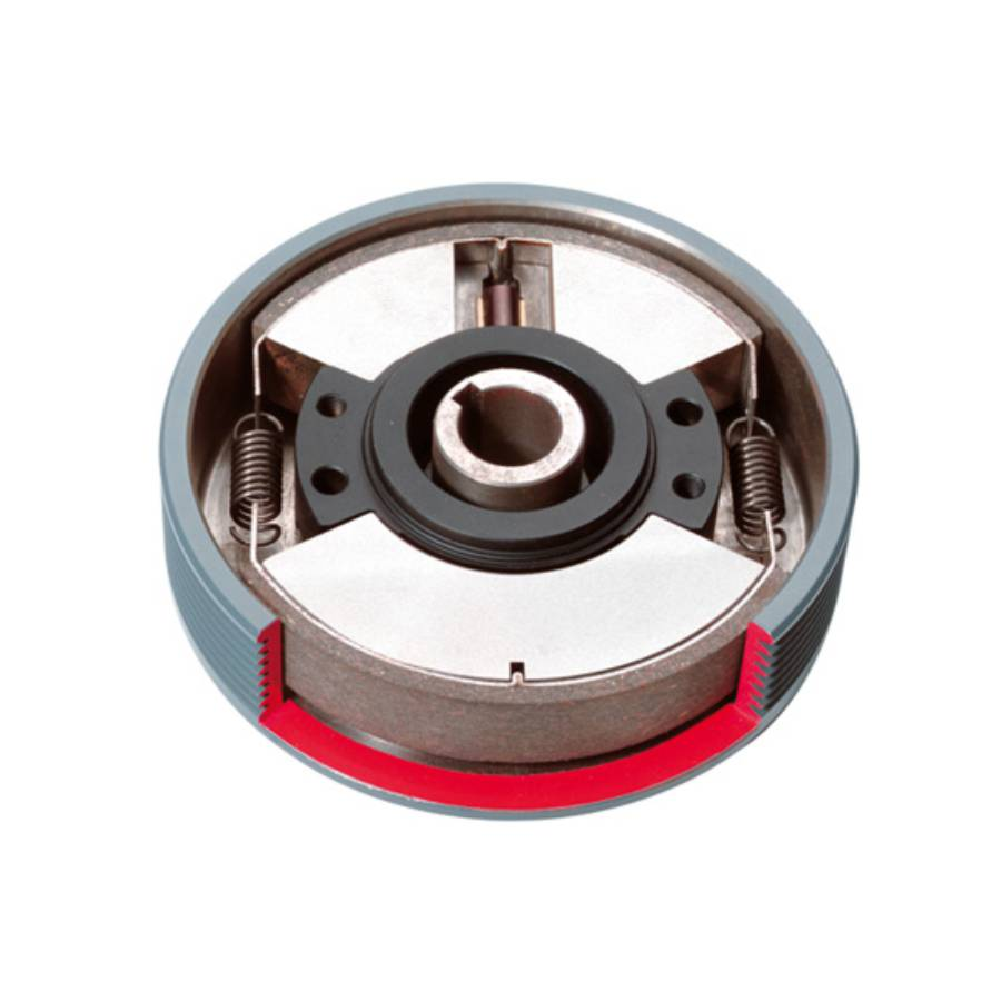 Pin-guided clutch with two flyweights